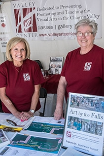 Volunteers at the Welcome Tent